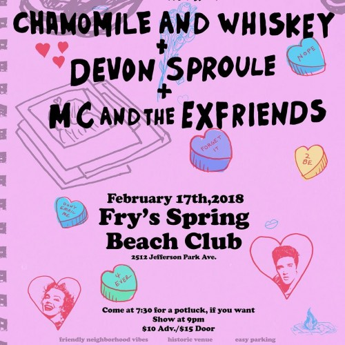 A Night of Romance & Heartbreak @ Fry's Spring Beach Club. Sat, Feb 17th.